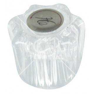"Grifería para lavamanos, de 4"" manilla metálica cromada"