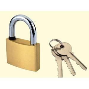 Candado trancador doble con llave