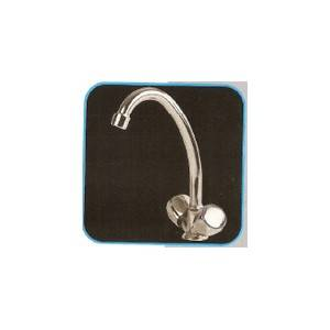 Grifería P/fregadero cuello de cisne agua fria y caliente Porto belo