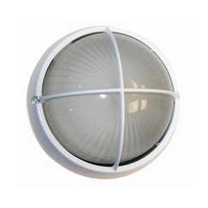 Lámpara redonda de vidrio C/Rejilla, tipo cruz color blanco E-27 60W 110-130V