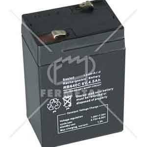 Batería recargable para lámpara de emergencia portatil, 6V, 4,5A.