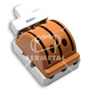 Interruptor tipo Cuchilla para sobreponer, de 2 Pase,  3 x 30 amperios, 600 voltios