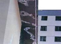 Imagen de desprendimiento de capas de pinturas
