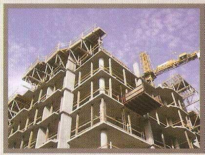 imagen de un edificio construido a base del sustituto del cemento PU700
