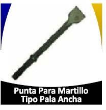 punta de martillo de pala ancha